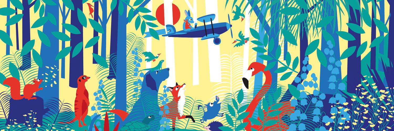 Illustratie met dieren door Linda Verholt